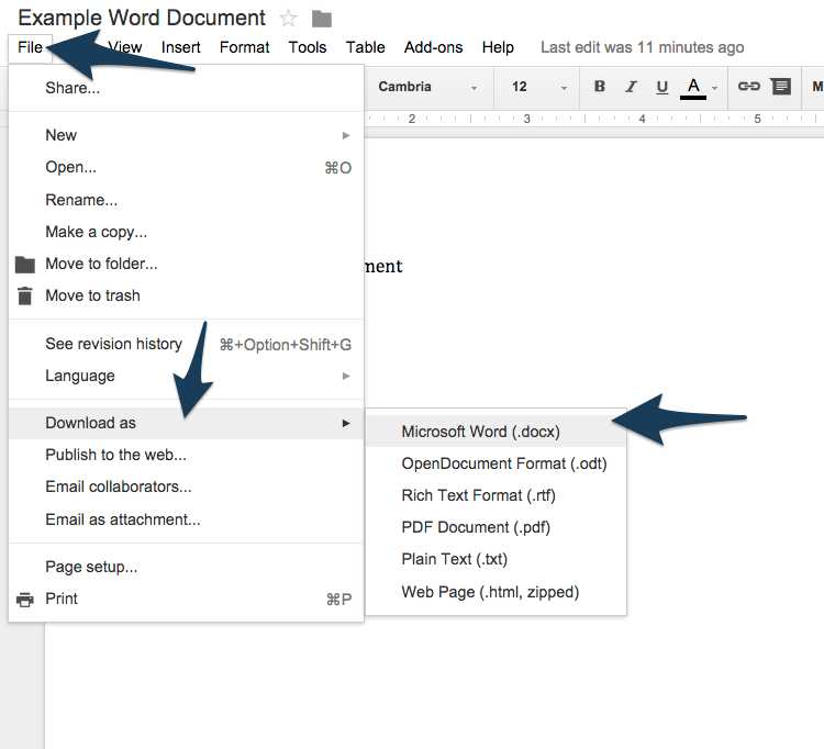 how to using google docs to edit word files ncce39s tech With edit google docs in word